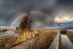 Tønsberg Rainbow II (Normann Photography) Tags: tønsberg rainbow regnbue wideangle hdr vestfold norway no weather