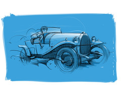 T23_Bugatti_2 s (Stefan Marjoram) Tags: sketch drawing ipad pro procreate apple pencil car vintage racing plein air