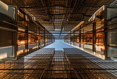 Perspective (reinaroundtheglobe) Tags: 52of2017 hongkong kowloon china architecture towardsthesky lowangleview symmetry symmetrical pattern gold perspective glass modern modernarchitecture