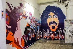 A f******* great time to be alive * Frank Zappa (JuliSonne) Tags: streetart urbanekunst mauer wall graffiti colors scene urban pasteup stencil street berlin orwohaus music musik frankzappa
