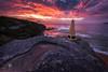 Under a burning sky (Brian Bornstein) Tags: waves water clouds beach ocean rockpool sunrise nsw brianbornstein northcurlcurlbeach curlcurl seascape sydney canon6d northcurlcurl rocks