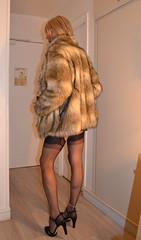 DSC_0011r (magda-liebe) Tags: paris travesti crossdresser clubbing french fullyfashionedstockings tgirl highheels outgoing shoes minidress stockings skirt fur cervin woman coat elegant