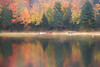 Autumn Morning by the Lake (lfeng1014) Tags: autumnmorningbythelake autumnmorning mistymorning colourfulreflection lakeoxtongue algonquin algonquinprovincialpark ontario canada autumncolours autumnleaves misty lake canoes boats landscape canon5dmarkiii lifeng ef70200mmf28lisiiusm