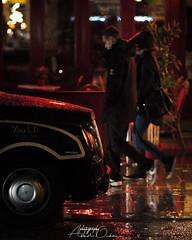 You and I (Abdulkader Oubari) Tags: rain walking walk street remember red light night raining couple love romance romantic car tax youandi nikon manchester england aleppo syrian