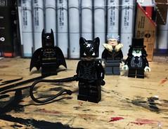 """Life's a Bitch, and So Am I."" (Lord Allo) Tags: lego batman returns michael keaton catwoman max shreck penguin danny devito michelle pfeiffer christopher walken"