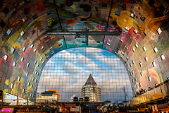 Archway and the Pencil..... (80D-Ray) Tags: markthal rotterdam hdr sky pietblom architecture capture structure sigma1770osc building