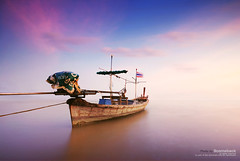 l2.5 (pattana92392) Tags: fineart photography thailand boat cloud fisherman fishing landscape ocean sea sky transport transportation vacation water longexposure sunset