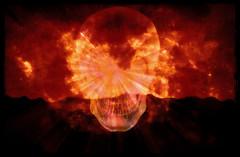 Welcome to Hell (Swissrock-II) Tags: photoshop photomanipulation brushes lightroom heel fire skull burning darkness dark november 2017 andykobel