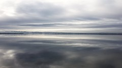 Grey Scare (Denis Moynihan) Tags: sea sky ocean water reflection clouds landscape seascape cloud donabate malahide light calm peace peaceful grey colour fingal morning dublin iteland coast sand beach strand shore travel nature
