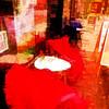 on a sunny november day (j.p.yef) Tags: peterfey jpyef yef streetcafe digitalart photomanipulation red square tables chairs blankets street hamburg germany