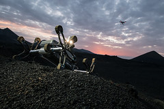 Rover sunset (europeanspaceagency) Tags: humanspaceflight imageoftheweek rover sunset pangaea caves geology planets roboticexploration