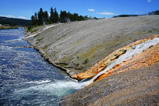 Hot stream, Yellowstone NP, USA