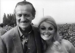 "David Niven, Sharon Tate, While Filming ""Eye of the Devil,"" 1966 (classic_film) Tags: davidniven sharontate 1966 actress alt american america añejo retro época ephemeral classic clásico nostalgic nostalgia beauty beautiful sexy sexsymbol sex actrice actriz schön schauspielerin old oll prettygirl pretty entertainment hollywood celebrity woman mujer mujerbonita niñabonita blonde girl vintage 1960s sixties elegant style hair hairstyle smile eyes fashion akteur aktor actor acteur man aktrice"