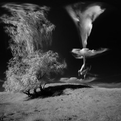 landscape with falling clouds (old&timer) Tags: background infrared blackandwhite filtereffect composite surreal song4u oldtimer imagery digitalart laszlolocsei