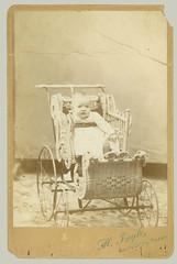Cabinet Card small child in stroller (anyjazz65) Tags: ajo65 cabinetcard child rattan stroller bloglgbuggy bloglgwicker bloglgcc