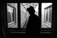 Apartment people (cekic photography) Tags: apartment people photography buildings architecture abandoned building blackandwhite photographers photojournalism melancholy alone monochorme turkey istanbul life ottoman historical home house silhouette