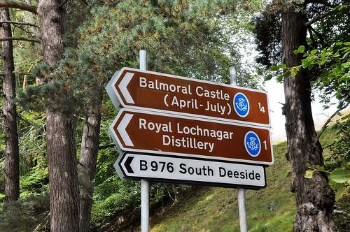 Zufahrt zu Balmoral Castle