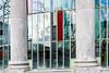 Brussels urbanization seen through historic windows (devos.ch312) Tags: botanicalgarden brussels kruidtuin textures reflections windows greenhouse christinedevos