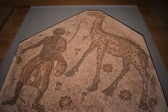 Chicago, IL - Grant Park - Art Institute of Chicago - Greek, Roman, and Byzantine Art - Mosaic Fragment - Syria or Lebanon, 5th c AD (jrozwado) Tags: northamerica usa illinois chicago artinstituteofchicago art museum mosaic man giraffe
