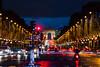 Paris Champs Élysées at Christmas time (Daxis) Tags: arcdetriomphe autumn bluehour champselys champselysees christmas city europe france lights night noel paris