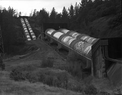 iron mountain on 4x5 film (Garrett Meyers) Tags: garrettmeyers garrett meyers filmphotographer film 4x5film 4x5 graflex graflex4x5 largeformat homedeveloped handheld rbgraflex autograflex4x5 blackandwhite monochrome iron mountain landscape northern california