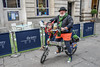 Festive cyclist Bristol (sophie_merlo) Tags: christmas xmas fancydress bicycle cycling bristol street