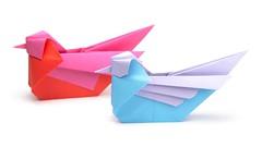 Origami Mandarin Bird Tutorial (Simon Andersen) Paper Kawaii (paperkawaii) Tags: origami instructions paperkawaii papercraft diy how video youtube tutorial