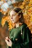 15.10.2017 (Polly Bird Balitro) Tags: ruska autumn colours gold orange yellow leaves nature details portrait finland suomi helsinki lauttasaari naturallight woman girl diary blog october2017 nikondf nikonaf135mmf2dc pollybalitro