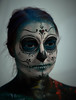 DSC07609 (Dominus lux) Tags: bodypainting körperbemalung kunstwerk halloween making monster katze mond skelett knochen portrait