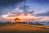 Sanur Beach Sunrise (Iftakhar Hasan) Tags: indonesia bali denpasar sanur beach sunrise cloud sony sonyepz1650mmf3556oss sonyα6300