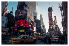 New York City 1999 (jmvanelk) Tags: newyork newyorkcity 1999 analog color colour film nyc nikonfe nikkor24mm timessquare