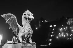 The dragon of Ljubljana (RoyBatty83) Tags: pentax pentaxk5 k5 slovenia ljubljana lubiana drago dragon dragonbridge zmajskimost takumar takumar55mmf18 55mm smctakumar55mmf18 smc smctakumar55f18 smctakumar m42 night nightphoto nightphotographs nightlight citynights medievalcity lowlight manualfocus vintagelenses japaneseclassiclense primelenses fixedlens