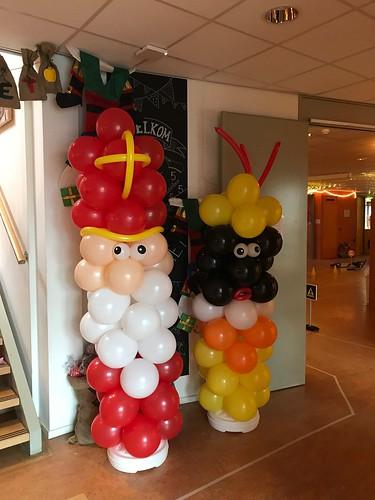 Ballonpilaar Sint en Piet St. Leonardusschool Brielle