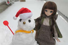 We tried to make a snowman, but we made a snowthing.😅😅😅😂😂😂😂😂 (Ninotpetrificat) Tags: doll dollfiedream dollfie ddh10 dollclothes mdd muñeca toys japantoy juguete hobby handmade cute kawaii volks snow