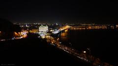 Kyiv. (Dmitriy DarkJoney) Tags: night city bigcitylife ukraine kiev kyiv sonyalpha sony lightrails view architecture landspace