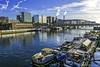 Live a houseboat on SEINE River ...PARIS (jibété61) Tags: houseboat paris zazotedeschi bridges architecture
