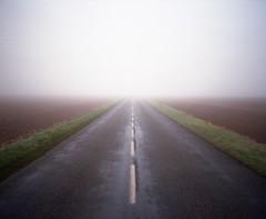 - - (Alexis Szyd.) Tags: analog analogue argentique alexisszyd mediumformat moyenformat mittelformat 6x7 p67 pentax67 countryside road fog newtopographics
