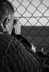 Focus. (vahiinee) Tags: portraits portraiture menton cotedazur reflect reflet grillage bnw noiretblanc bw wb nb bn blackwhite blackandwhite monochrom monochrome monochromatic