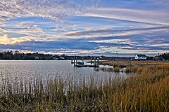Dock #13:  Open Wide (brev99) Tags: d610 barrington tamron28300xrdiif rhodeisland dock ononesoftware on1photoraw2018 sunsetlight nikviveza cacorrection viewnx2 nikoutputsharpener clouds landscape latelight latefall reeds house