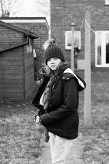 343/365 - Wrapped up! (phil wood photo) Tags: 2017 2017photofun 365 70200f4l bw day343 grace grey mono portrait tweenager winter