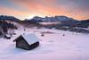 Winterwunderland (_salomax) Tags: bavaria clouds cold fog geroldsee ice karwendel kitsch landscape mountains noperson snow sunrise upperbavaria wagenbrüchsee winter krün bayern deutschland de alps
