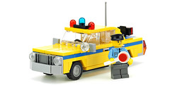 Old traffic police car (de-marco) Tags: lego town city car traffic police 5stud