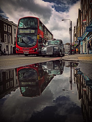 Two is better than one (monfrez) Tags: reflections riflessi bus coach london uk londra mirror riflesso