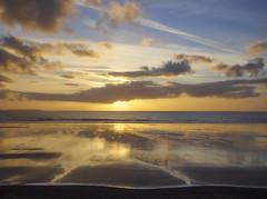 Winter Sunset (Maggie's Camera) Tags: winter sunset wintersunset pembrokeshire sand sea orange blue dusk seascape reflections sky clouds