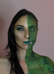 Serpentard (Divine by No) Tags: maquillage makeup harrypotter facepainting modele portrait shooting studio