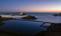 From dusk till dawn (Rabican-BUSY) Tags: california sanfrancisco baths reflections dusk sunset colorful landscape photography longexposure night blue pool view calmness stars ruins shadows ι
