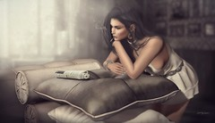 She Has No Fear About Bad News...She Confitially Trusts In Her Heart! ... by Niani (xxnianixx) Tags: recamiere sofa meva niani jewelry atmosphere news photography virutalphotography vintage style digitalart dreamy dress secondlife sl