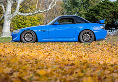 Honda S2000 CR in Fall (Adrs2k) Tags: honda hondas2000cr hondas2000 hyperracingblack apexbluepearl advan advanrsii advanracing apexblue ad08r s2000cr s2000 cr clubracer kwclubsports kw greddy