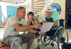 quadruple amputee man takes diving course 01 (KnyazevDA) Tags: disability disabled diver diving deptherapy undersea padi underwater owd redsea buddy handicapped aowd egypt sea wheelchair travel amputee paraplegia paraplegic