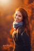Keep on smiling (Pásztor András) Tags: nature women autumn red orange bokeh full frame eyes face moody sigma 70300mm tele portait forest sunset light sun dslr nikon d700 hungary andras pasztor photography 2017